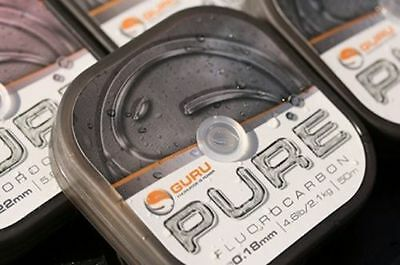 Guru Pure Fluorocarbon Hooklink Rig Making Coarse Match Pole Fishing Line 50m