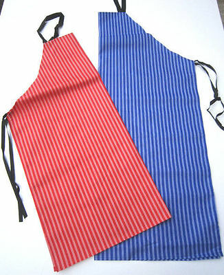 Job Lot 10 Red Or Blue Traditional  Butchers Striped Apron  Bakers Chef Kitchen
