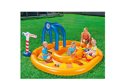 BESTWAY Kinder+Baby Planschbecken,Little Caboose,Kinderpool,Pool,285x224cm,NEU