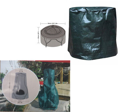 Large Fire Pit Cover Water Proof Resistant & Large Waterproof Chiminea cover