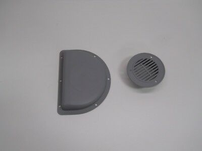 RV ATV Cycle Truck Cargo Work Trailer Side Air Vents Gray