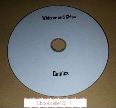 ebooks, Whizzer and Chips Comics and Annuals on Disc in PDF Format to read on PC