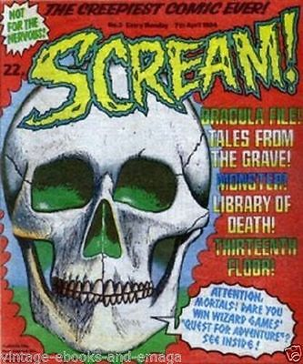 ebooks Shiver & Shake + scream Comics in PDF Format to read on PC/laptop on disc