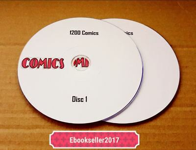 ebooks, 1200 Classic Mixed Comics in PDF format read on PC/ Laptop on 2 Discs