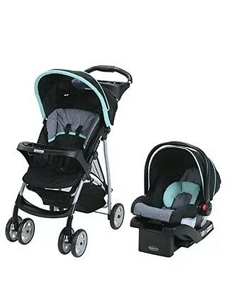 Graco LiteRider Travel Folding Jogger Stroller & Baby car Seat