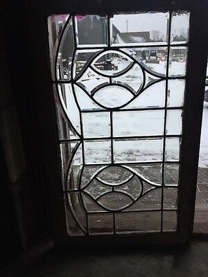 Sg 1247 Antique All Beveled Glass Transom Window 23.75 X 40.5