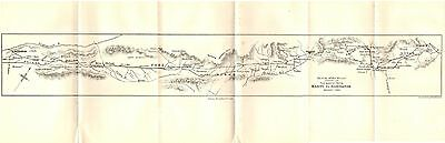 Antique Map/plan, Afghan War, Route March, Kabul To Kandahar 1880