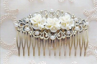 Hair Comb Bronze Tone Wedding Bridal Vintage Style Hair Accessories Gatsby Boho