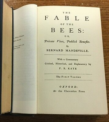 Bernard Mandeville. The Fable Of The Bees. Oxford 1957.