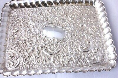 Antique Solid Silver Repousse Dressing Table Tray Henry Matthews 1907 Edwardian