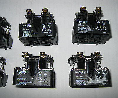 Lot of 8 Schneider Electric 199X-7 Magnecraft General Purpose Relays, 12VDC