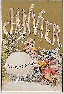 SOAPINE ~ THE GIANT SNOWBALL ~ JANVIER, Kendall Mfg. Victorian ADV, c1827