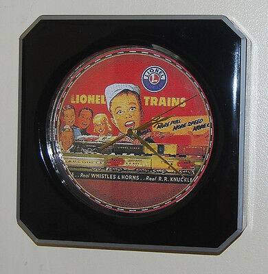 """12""""  Lionel Train Wall Clock """"HAPPY BOY WITH NEW TRAIN"""" for Lionel Collector"""
