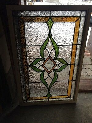 Sg 1262 Antique Stainglass Textured Glass Window 22.2 X 34