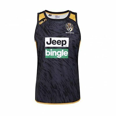 Richmond Tigers AFL Training Singlet 2017 - Black