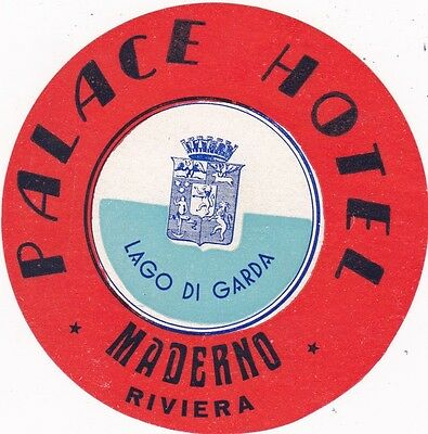 Italy Maderno Palace Hotel Vintage Luggage Label sk2291