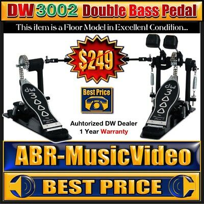 New DW3002 Double Bass Pedal DWCP3002