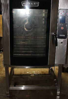 Hobart Full-Size Gas Combi Steamer Steam Oven CG10FI with Stand