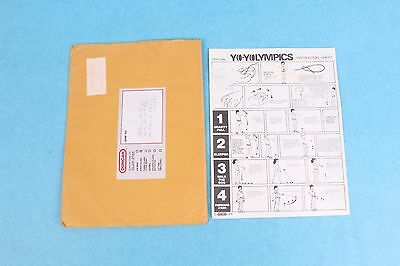Vintage 1978 Lot Of 5 Duncan Yo-Yo Olympics Instruction Sheets W/mailing Sleeve