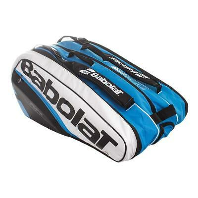 New Babolat Pure Blue/White 12 Rackets Racquets Capacity Tennis Bag