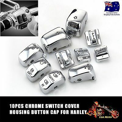 Controls Switch Cover Button for Harley Softail Dyna Road King Tour Glide Fatboy