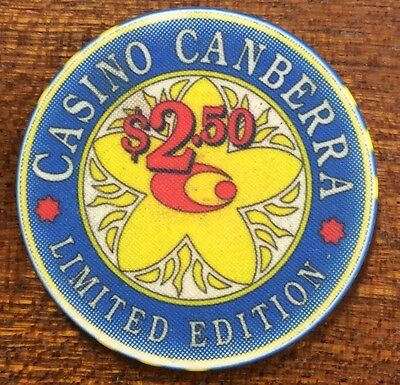 $2.50 Casino Canberra- limited edition