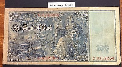 1910 100 Marks Banknote Germany circulated condition - 8249006