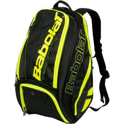 New Babolat Pure Black/Yellow Backpack Tennis Bag