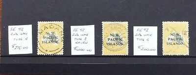 1915-23 north west pacific islands NWPI kangaroo and 2nd w/m 5/- issues (2017)