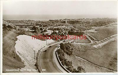 Real Photographic Postcard Of Folkestone From The Hills, Kent