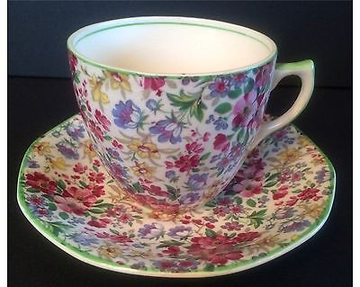 Vintage Barker Bothers Royal Tudor Ware Chintz Cup And Saucer