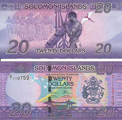 Salomonen / Solomon Islands - 20 Dollars 2017 UNC - Pick New, Serie A/1