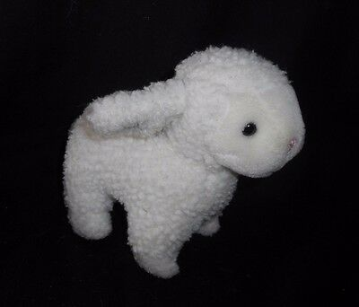 6 Vintage 1990 Kinder Gund Easter White Lamb Sheep Stuffed Animal