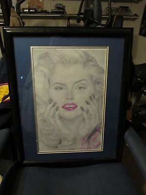 Anna Nicole Smith Print Madded And Framed Artwork