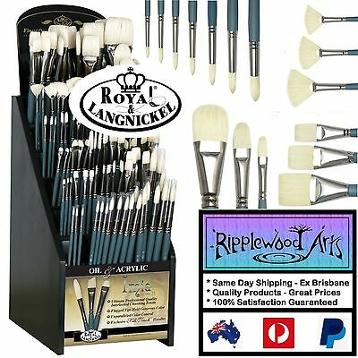 IMIA Artist Quality Oil/Acrylic Brushes - Intertlocking Chunking Natural Bristle