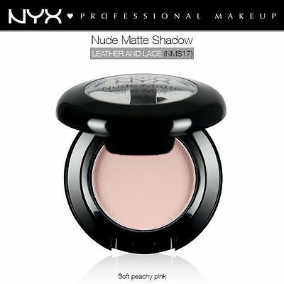 Nyx Nude Matte Eye Shadow #Nms17 Leather And Lace Soft Peachy Pink Light