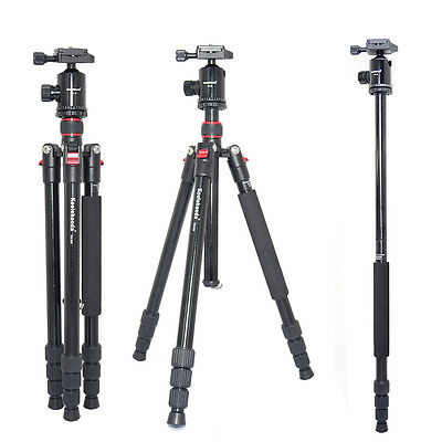 Professional 64-inch Camera Tripod Monopod with Fluid Head Ball Head
