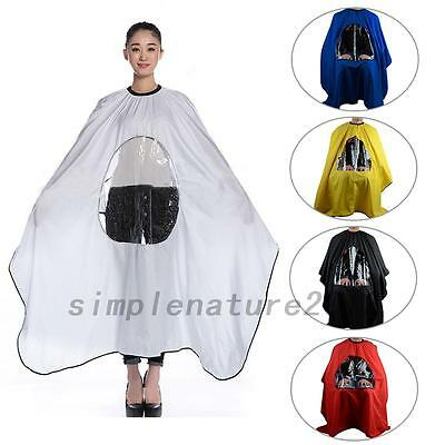Pro Haircut Cloaks Capes Hairdresser Stylist Viewing Window Cape Barber Gown