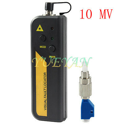 10mw Red Laser Light Fiber Optic Cable Tester LC/SC/FC/ST Connector Cable Test