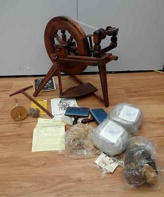 NEW never USED TIMBER Ettrick SPINNING Wheel + EXTRAS Mohair WOOL QZZQ Adelaide