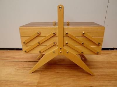 Vintage RETRO Timber CANTILEVER Sewing CRAFT Box BEST I Have SEEN QZZQ Adelaide