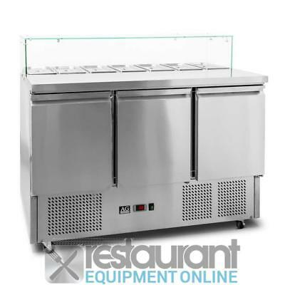 AG 3 Saladette with G/N 1/3 GN trays x 7 Commercial Refrigeration | Salad & Sand