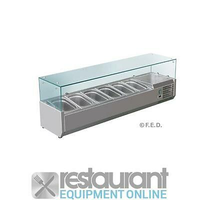F.E.D VRX1500/380 Deluxe Prep Top Commercial Refrigeration | Countertop Displays
