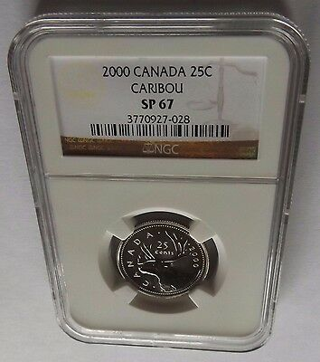 2000 Canada Ngc Sp67 Caribou 25C! Brown Label!!!