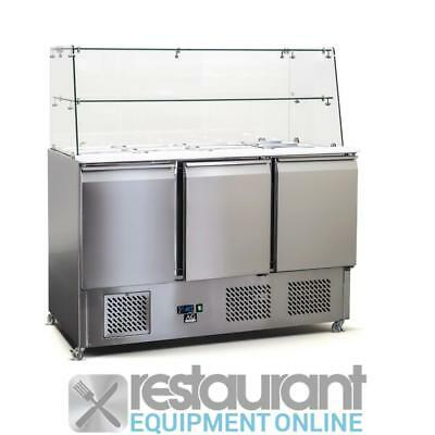 Commercial Salad & Sandwich Bars AG Salad Fridge with Glass Cover