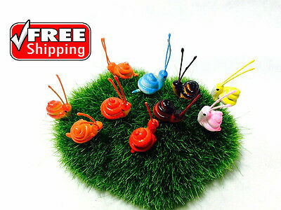 10  Miniature Dollhouse Fairy Garden Accessories Terrarium Tiny Snail Free ship