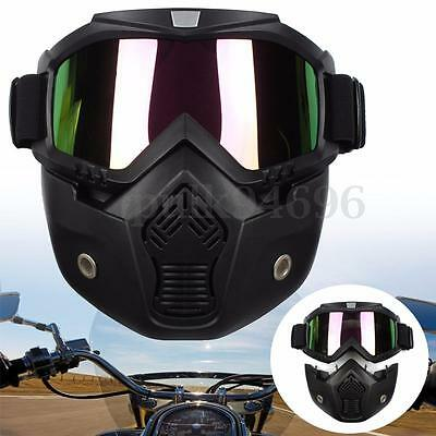 Modular Motorcycle Bike Helmet Open Face Mask Shield Goggles Detachable Colorful