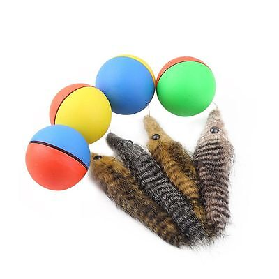Color Random Jumping Attractive Pet Chaser Cat Toy Beaver Ball Self Rolling