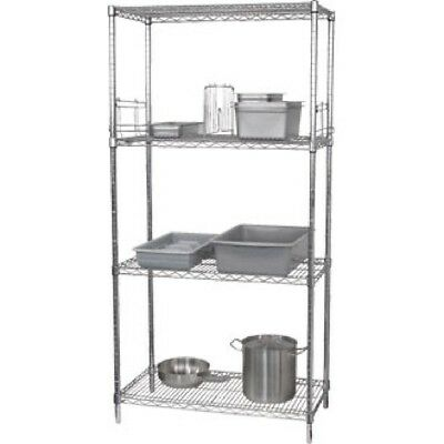 Vogue 4 Tier Wire Shelving Kit 915x610mm Stainless Steel | Overshelves and Under