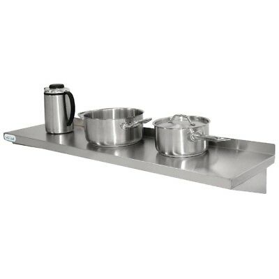 Vogue Stainless Steel Kitchen Shelf 600mm Stainless Steel Shelving Vogue Shelvin